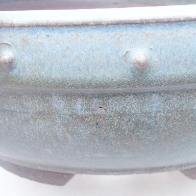 Ceramic bonsai bowl 23 x 23 x 8 cm, color blue - 2