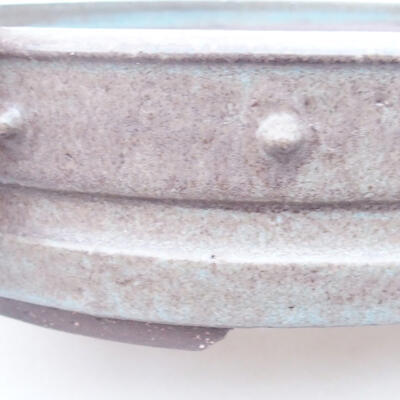 Ceramic bonsai bowl 27 x 27 x 6 cm, gray color - 2