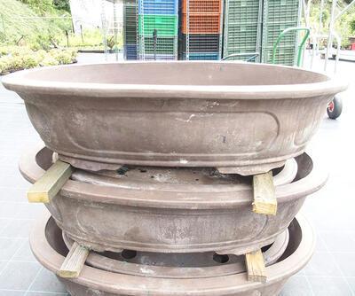 Bonsai bowl 100 x 66 x 24 cm, gray color - 2