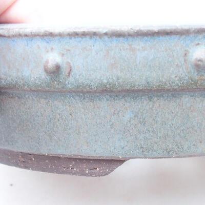 Ceramic bonsai bowl 22 x 22 x 5 cm, color gray - 2