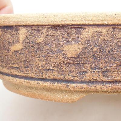 Ceramic bonsai bowl 21 x 21 x 6 cm, color brown - 2