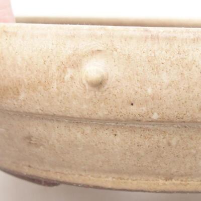 Ceramic bonsai bowl 20 x 20 x 5 cm, beige color - 2