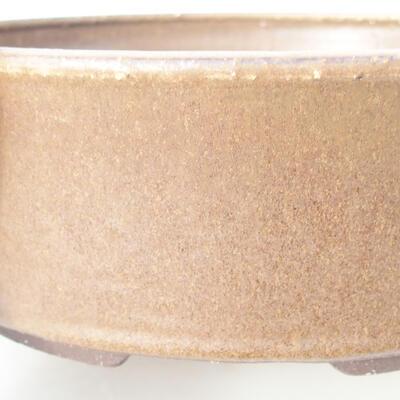 Ceramic bonsai bowl 25 x 25 x 7.5 cm, color brown - 2