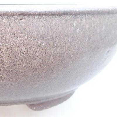 Ceramic bonsai bowl 25 x 25 x 8 cm, color gray - 2