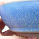 Ceramic bonsai bowl 14.5 x 14.5 x 4.5 cm, color blue - 2/3