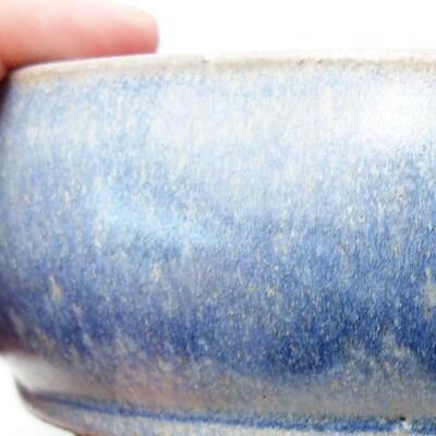 Ceramic bonsai bowl 14.5 x 14.5 x 5 cm, color blue - 2