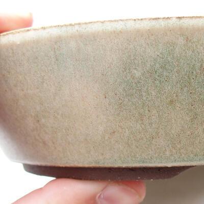 Ceramic bonsai bowl 17 x 17 x 4 cm, beige color - 2