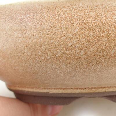 Ceramic bonsai bowl 15 x 15 x 5 cm, beige color - 2