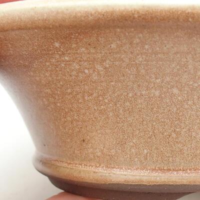 Ceramic bonsai bowl 16.5 x 16.5 x 6 cm, beige color - 2