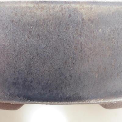 Ceramic bonsai bowl 14 x 14 x 4 cm, color brown - 2