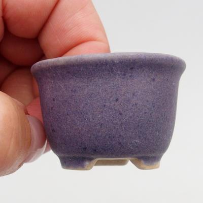 Mini bonsai bowl 4 x 4 x 2,5 cm, color violet - 2