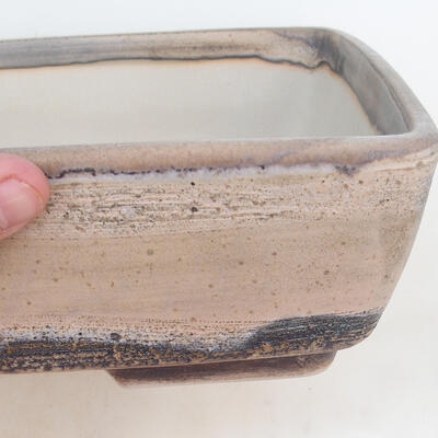 Bonsai bowl 30 x 22 x 8 cm, gray-beige color - 2