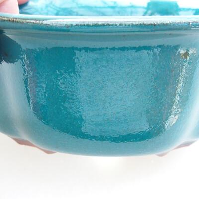 Ceramic bonsai bowl 13 x 11 x 5.5 cm, color green - 2