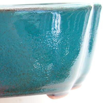 Ceramic bonsai bowl 17.5 x 13.5 x 4.5 cm, color green - 2