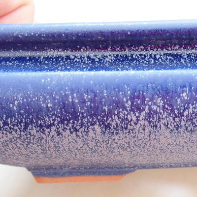 Ceramic bonsai bowl 15.5 x 15.5 x 5.5 cm, color blue - 2