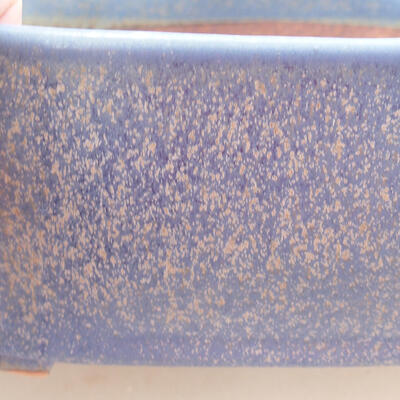 Ceramic bonsai bowl 20.5 x 17 x 7 cm, color blue - 2