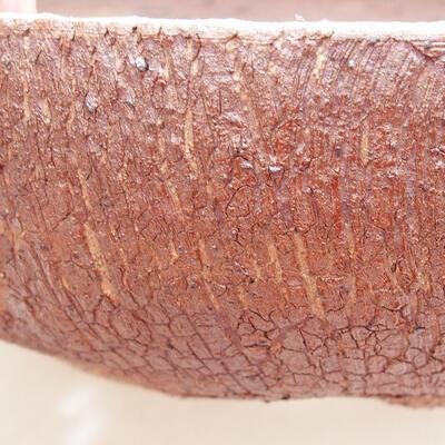 Ceramic bonsai bowl 21 x 21 x 6 cm, cracked color - 2