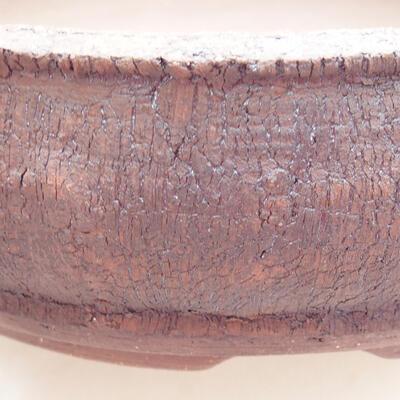 Ceramic bonsai bowl 19 x 19 x 5.5 cm, color cracked - 2
