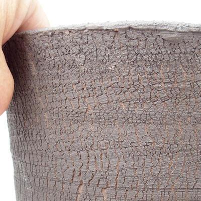 Ceramic bonsai bowl 12 x 12 x 13 cm, color cracked - 2