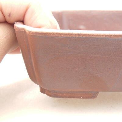 Ceramic bonsai bowl 15 x 12 x 4.5 cm, brown color - 2