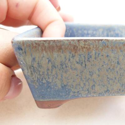 Ceramic bonsai bowl 12 x 9 x 3.5 cm, color blue - 2