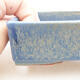 Ceramic bonsai bowl 13 x 9.5 x 3.5 cm, color blue - 2/3