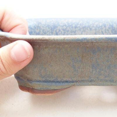 Ceramic bonsai bowl 15 x 12 x 4.5 cm, color blue - 2