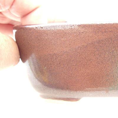 Ceramic bonsai bowl 12 x 9 x 5 cm, brown color - 2