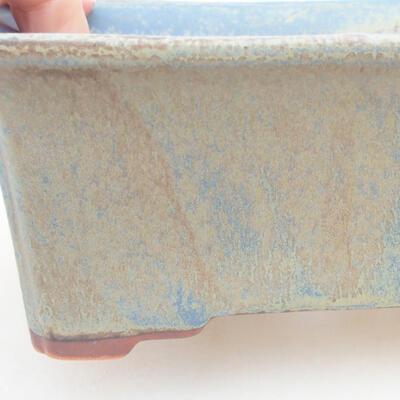 Ceramic bonsai bowl 18 x 14 x 7 cm, color blue - 2