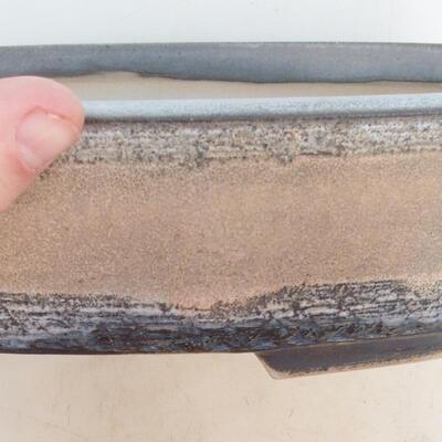 Bonsai bowl 33 x 25 x 7.5 cm, gray-beige color - 2