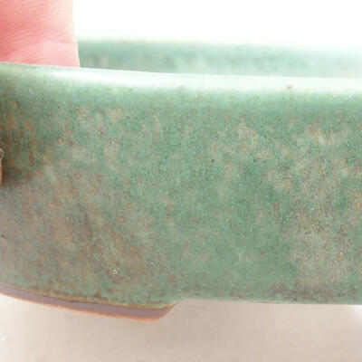 Ceramic bonsai bowl 17 x 14 x 3.5 cm, color green - 2