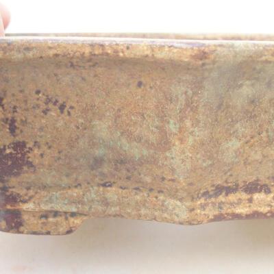Ceramic bonsai bowl 14 x 10 x 4 cm, brown color - 2