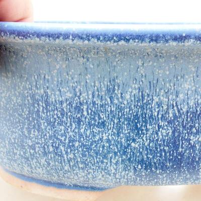 Ceramic bonsai bowl 22 x 17.5 x 7.5 cm, color blue - 2