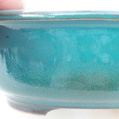 Ceramic bonsai bowl 14 x 11 x 5.5 cm, color green - 2