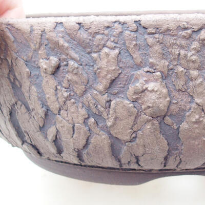 Ceramic bonsai bowl 21 x 21 x 7 cm, color cracked - 2