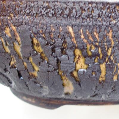 Ceramic bonsai bowl 18.5 x 18.5 x 6 cm, color cracked - 2