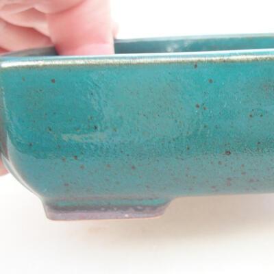 Ceramic bonsai bowl 14 x 10.5 x 3.5 cm, color green - 2