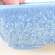 Ceramic bonsai bowl 15 x 11.5 x 4 cm, color blue - 2/3