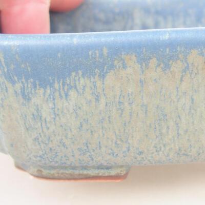 Ceramic bonsai bowl 15 x 11.5 x 4 cm, color blue - 2