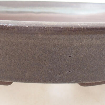 Ceramic bonsai bowl 21 x 21 x 4 cm, color brown - 2