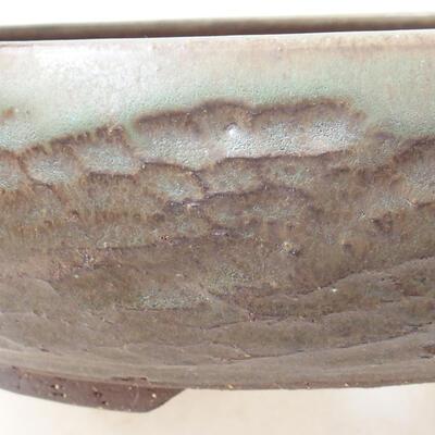 Ceramic bonsai bowl 22 x 22 x 6 cm, color brown - 2