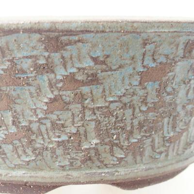 Ceramic bonsai bowl 24 x 24 x 7.5 cm, color blue - 2