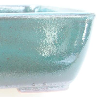 Ceramic bonsai bowl 15.5 x 10 x 4 cm, color green - 2
