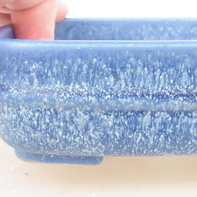 Ceramic bonsai bowl 14 x 12 x 4 cm, color blue - 2