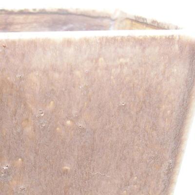 Ceramic bonsai bowl 10 x 10 x 7.5 cm, brown color - 2