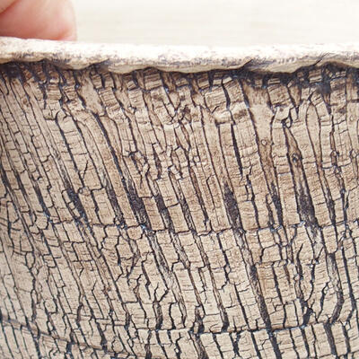 Ceramic bonsai bowl 14 x 14 x 14.5 cm, color cracked - 2