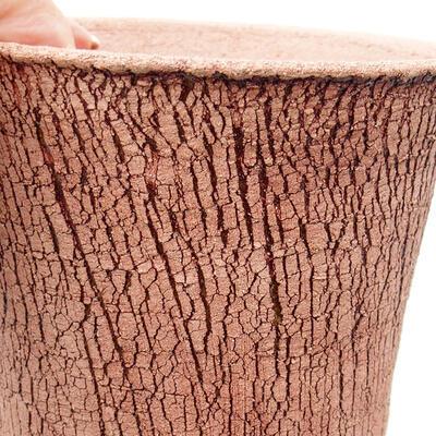 Ceramic bonsai bowl 12 x 12 x 14 cm, color cracked - 2