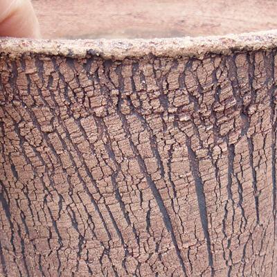 Ceramic bonsai bowl 13.5 x 13.5 x 14 cm, color cracked - 2