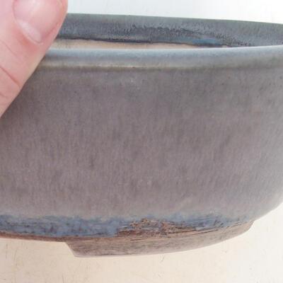 Bonsai bowl 24 x 19.5 x 7.5 cm, gray-beige color - 2