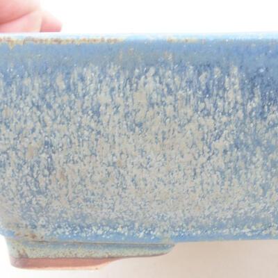 Ceramic bonsai bowl 21 x 16 x 6.5 cm, color blue - 2